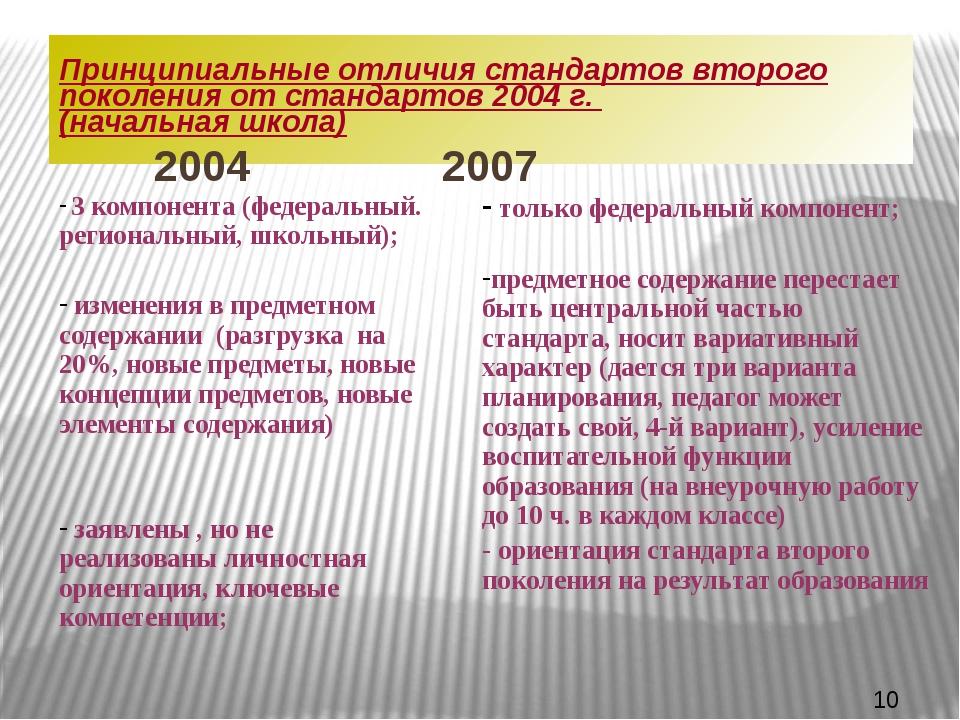 Принципиальные отличия стандартов второго поколения от стандартов 2004 г. (на...
