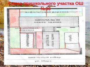 Схема пришкольного участка ОШ №30