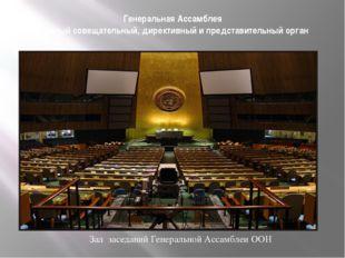 Генеральная Ассамблея главный совещательный, директивный и представительный о