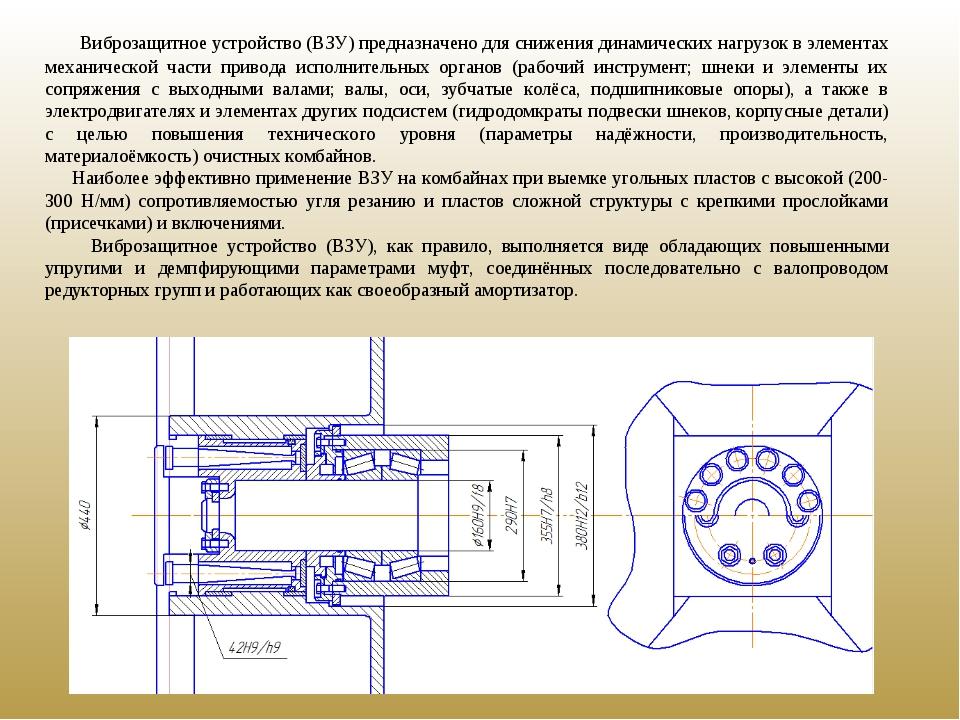 Виброзащитное устройство (ВЗУ) предназначено для снижения динамических нагру...
