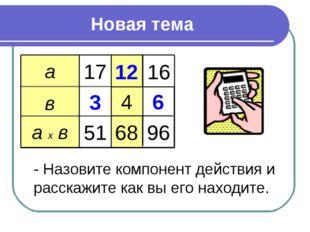 Новая тема а в а х в 17 12 16 3 4 6 51 68 96 - Назовите компонент действия и