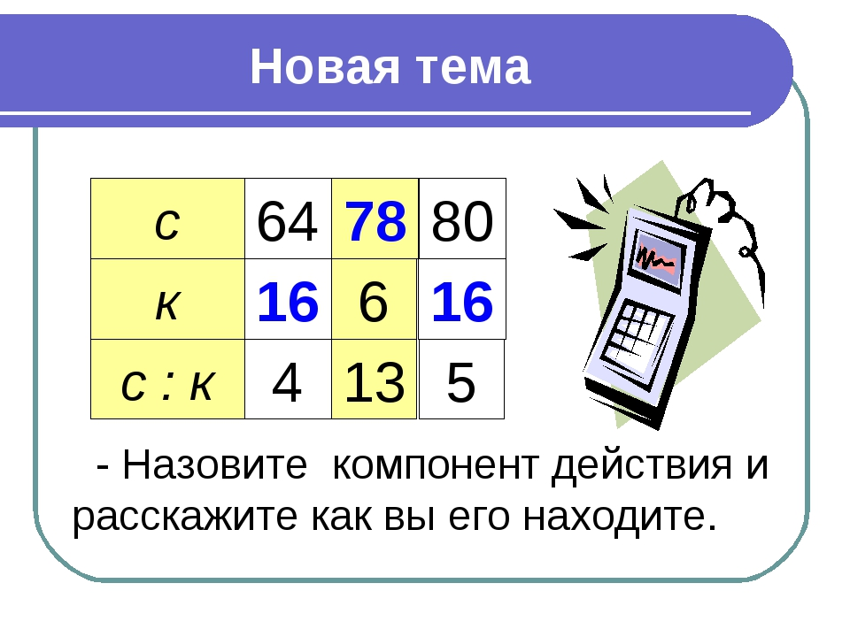 Новая тема с к с : к 64 16 4 78 6 13 80 16 5 - Назовите компонент действия и...