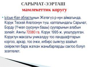 Ысык-Көл областынын Жетөгүз р-нун аймагында. Корук Тескей Алатоонун түш. капт