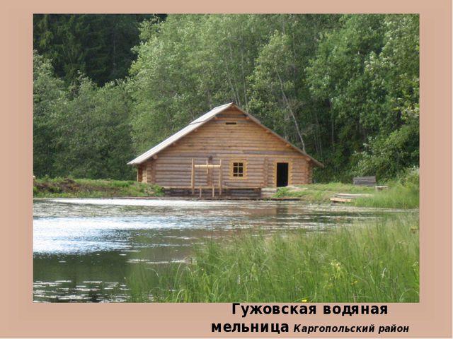 Гужовская водяная мельница Каргопольский район