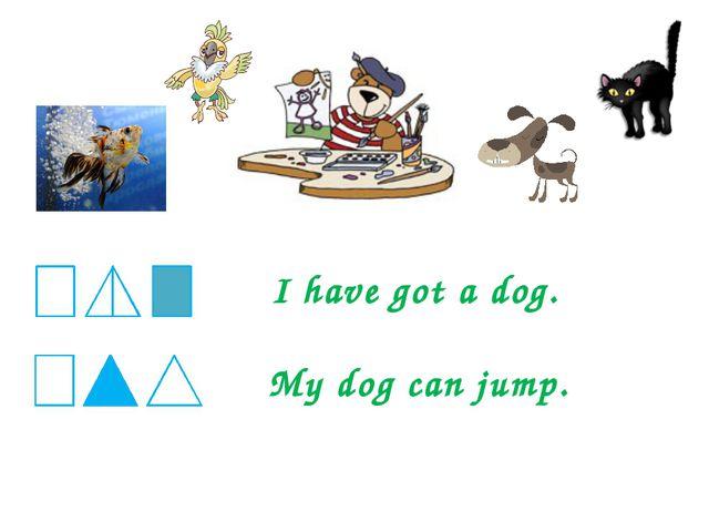I have got a dog. My dog can jump.