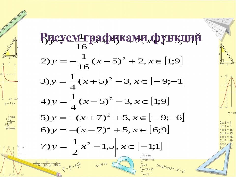Рисуем графиками функций