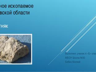 Полезное ископаемое Московской области Известняк Выполнил: ученик 4 «Б» класс