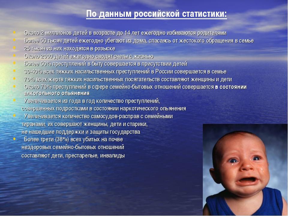 По данным российской статистики: Около 2 миллионов детей в возрасте до 14 ле...