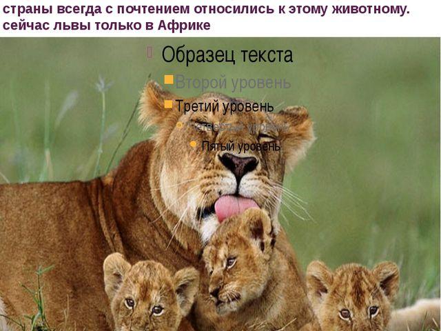 львы в прошлом встречались от Северной Африки, Индии и Пакистана до самой Гре...