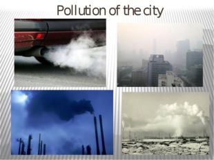 Pollution of the city