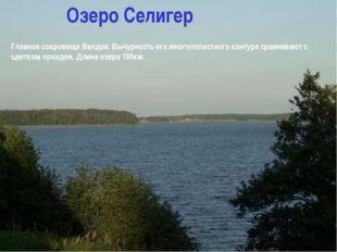 Озеро Селигер Главное сокровище Валдая. Вычурность его многолопастного контур