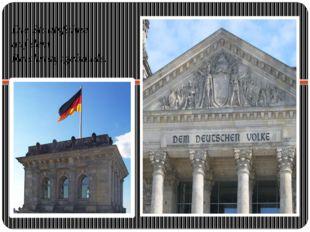 Die Staatsfahne auf dem Reichstagsgebäude.
