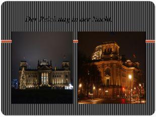 Der Reichstag in der Nacht.