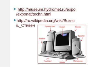 http://museum.hydromet.ru/expo/exponat/techn.html http://ru.wikipedia.org/wi