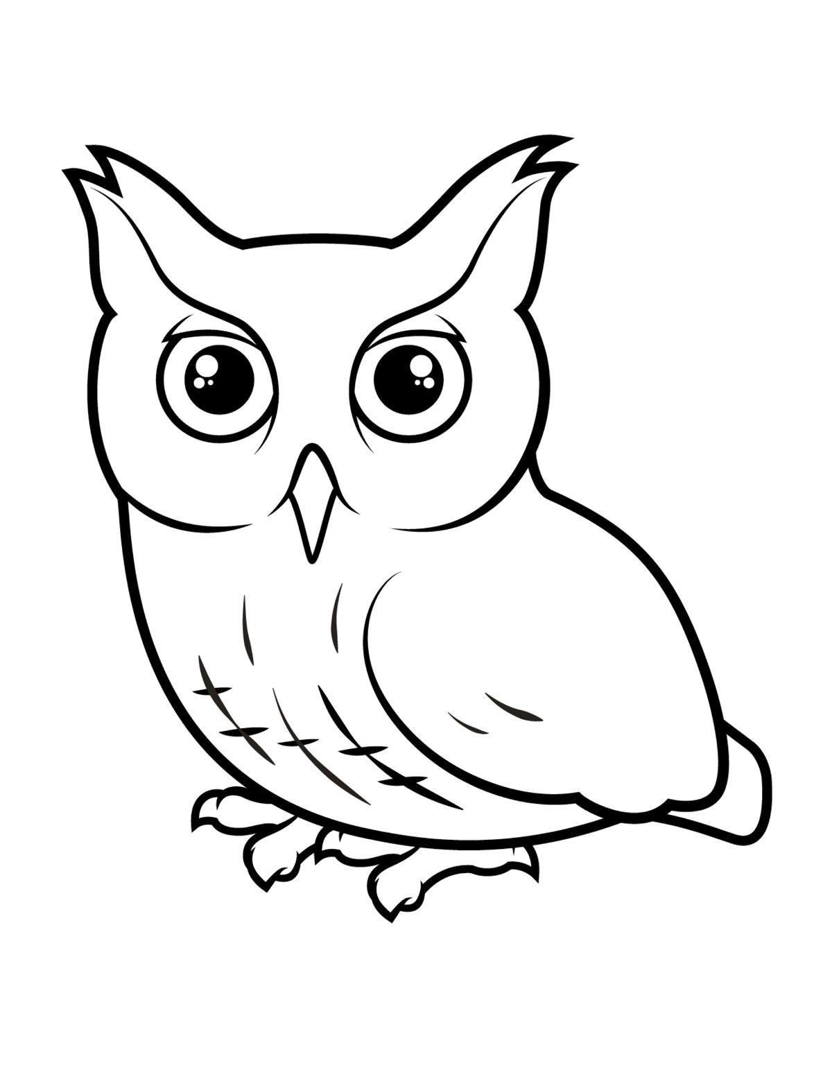 Раскраска птицы для малышей