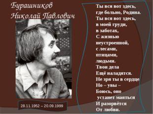 Бурашников Николай Павлович Ты вся вот здесь, где больно, Родина. Ты вся вот