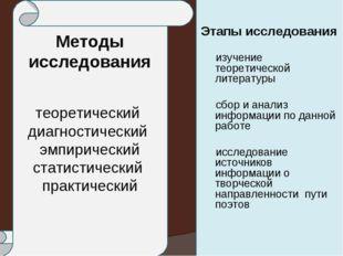 Методы исследования теоретический диагностический эмпирический статистический