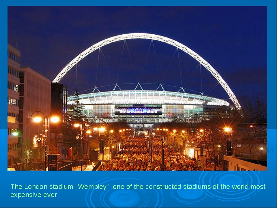 "The London stadium ""Wembley"", one of the constructed stadiums of the world mo..."