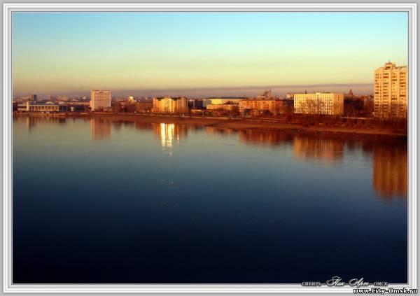 Омск...река Иртыш...набережная