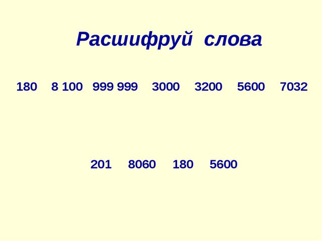 Расшифруй слова