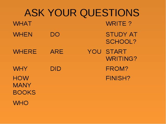 ASK YOUR QUESTIONS WHATWRITE ? WHENDOSTUDY AT SCHOOL? WHEREAREYOUSTA...