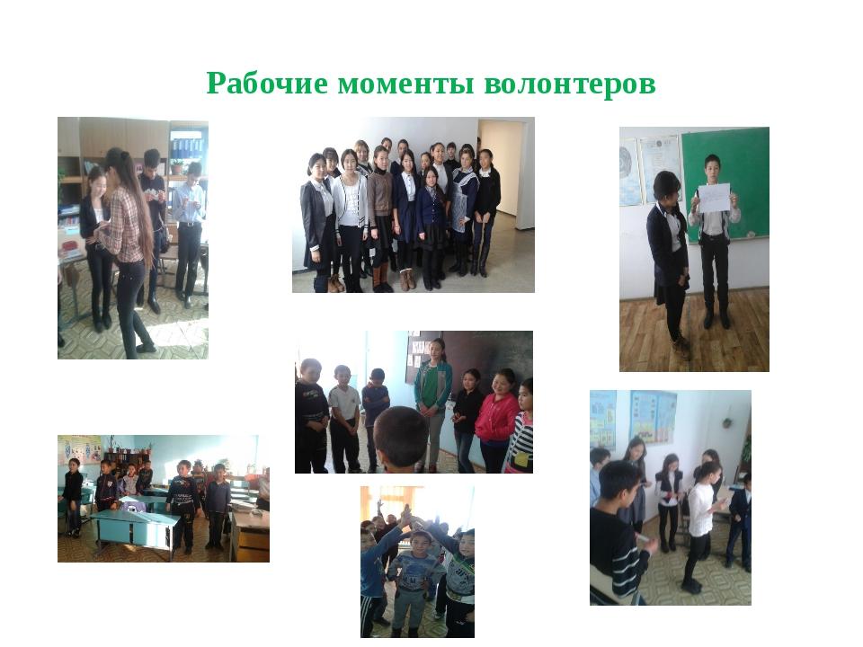 Рабочие моменты волонтеров