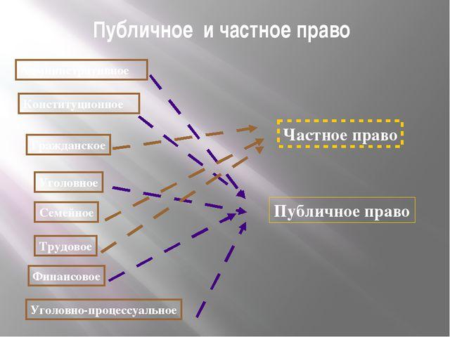 Публичное и частное право Административное Конституционное Гражданское Уголов...