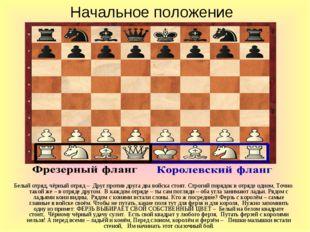Начальное положение Белый отряд, чёрный отряд – Друг против друга два войска