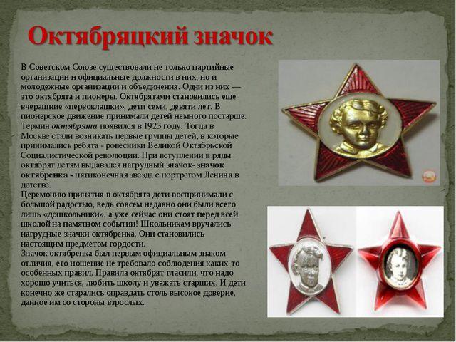 В Советском Союзе существовали не только партийные организации и официальные...