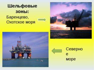 Баренцево, Охотское моря Шельфовые зоны: Северное море В настоящее время осва