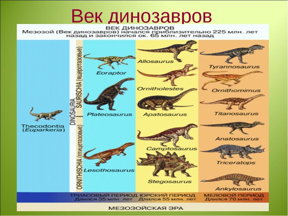 Век динозавров