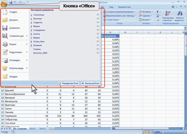 Лекции MS Excel 2010