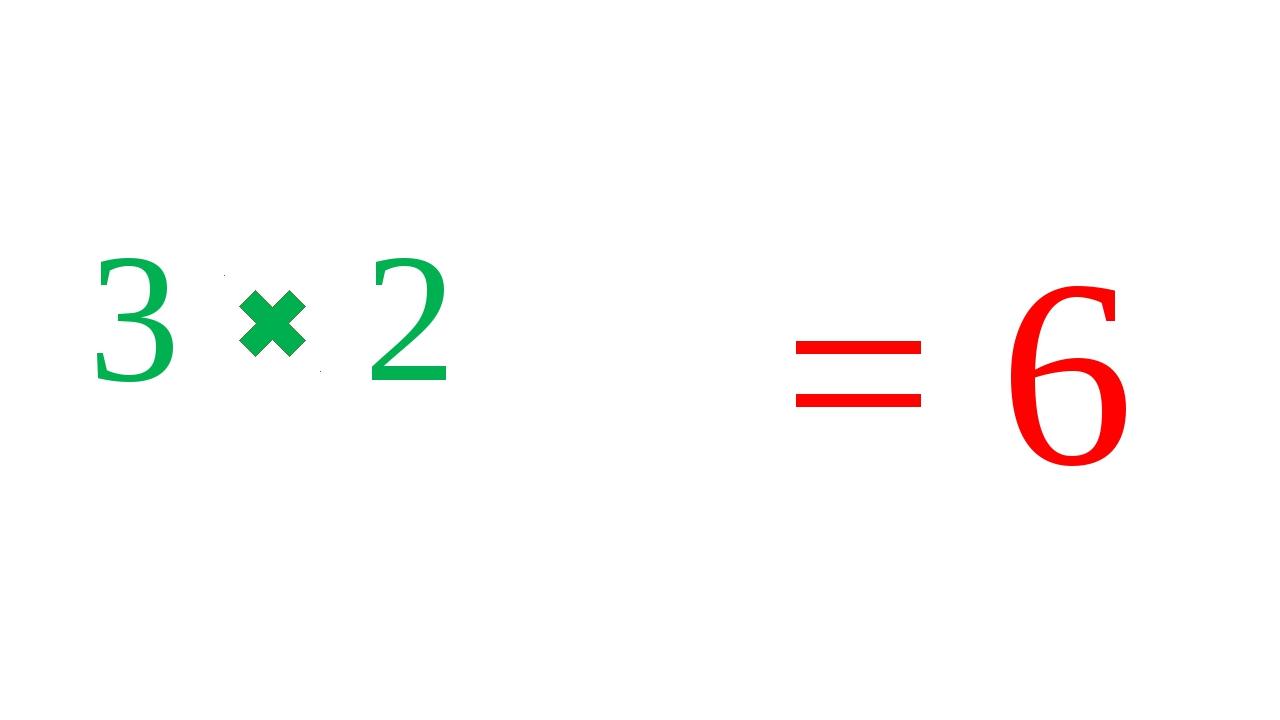 3 2 = 6