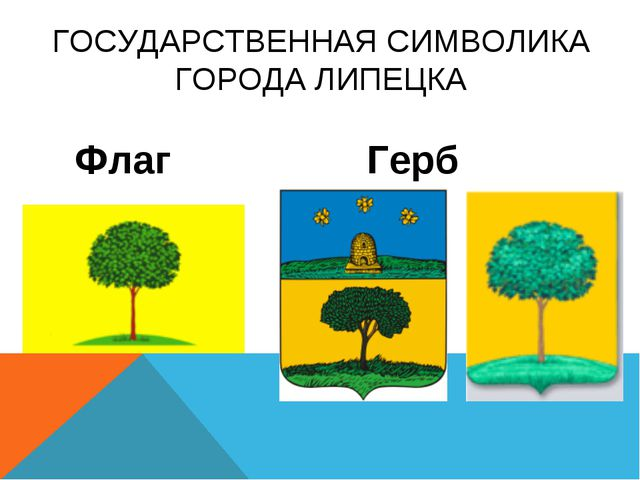 ГОСУДАРСТВЕННАЯ СИМВОЛИКА ГОРОДА ЛИПЕЦКА Флаг Герб