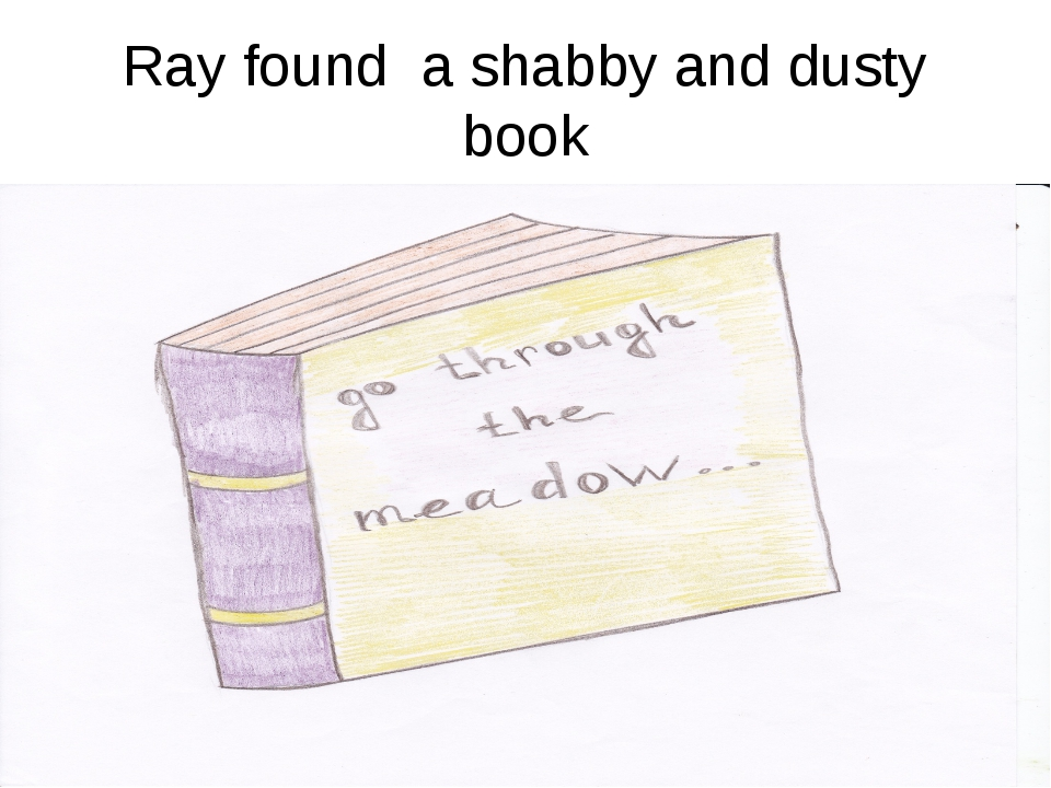 Ray found a shabby and dusty book