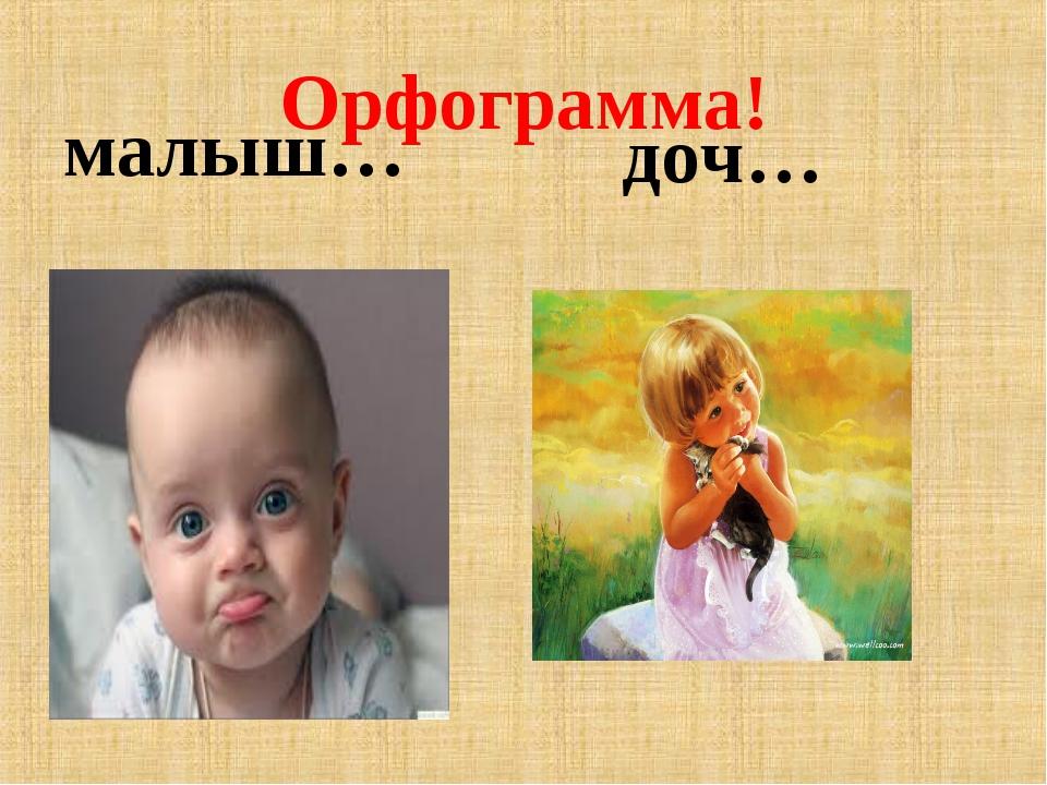Орфограмма! малыш… доч…