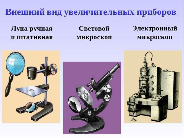 Лупа ручная и штативная Световой микроскоп Электронный микроскоп Внешний вид...