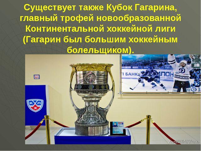 Существует также Кубок Гагарина, главный трофей новообразованной Континентал...