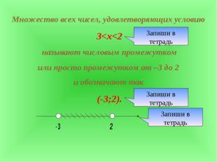 Множество всех чисел, удовлетворяющих условию 3
