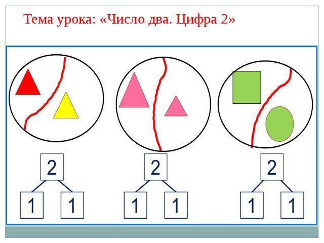 Тема урока: «Число два. Цифра 2»