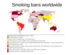 Smoking bans worldwide