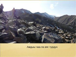 Амдыы чаа-ла аяс турдун