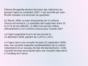 Étienne Mougeotte devient directeur des rédactions du groupe Figaro en novemb