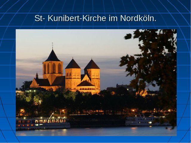 St- Kunibert-Kirche im Nordköln.