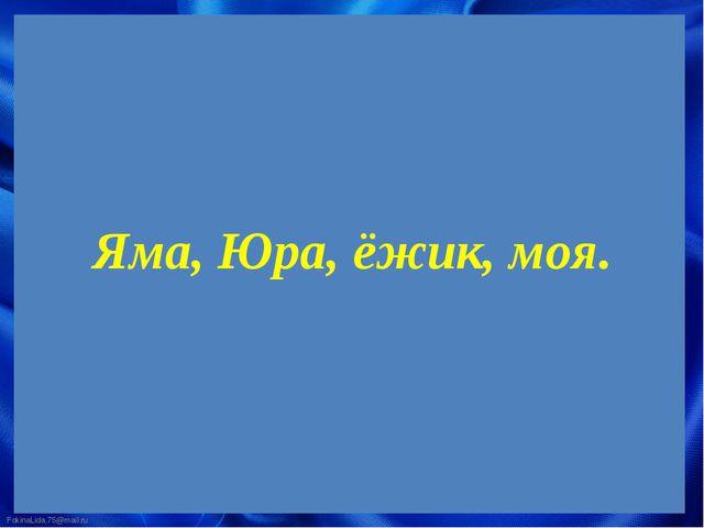 Яма, Юра, ёжик, моя. FokinaLida.75@mail.ru