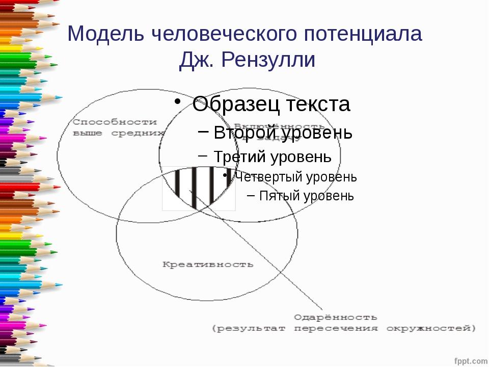 Модель человеческого потенциала Дж. Рензулли