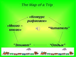 """The Map of a Trip «Конкурс рифмовок» """"Читатели"""" """"Отдых"""" """"Этикет"""" «Много – мн"""