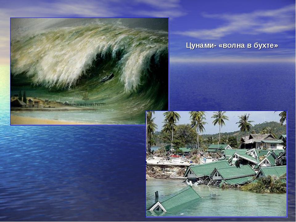 Цунами- «волна в бухте»
