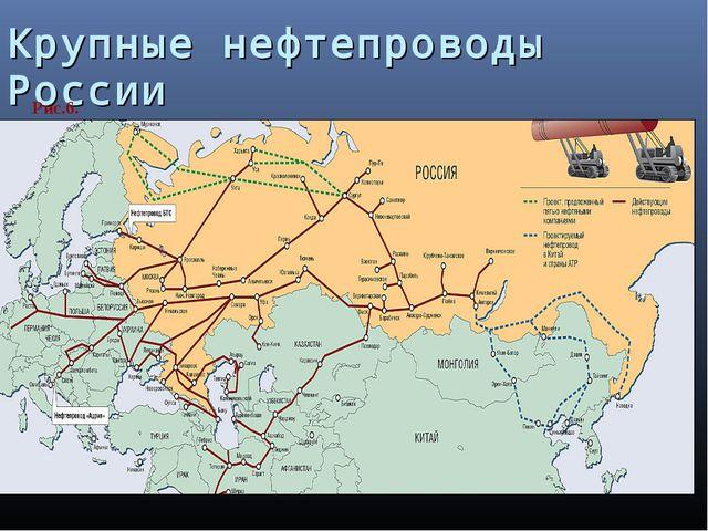 Крупные нефтепроводы России Рис.6.