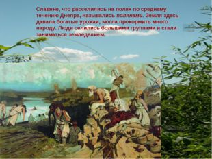 Славяне, что расселились на полях по среднему течению Днепра, назывались поля